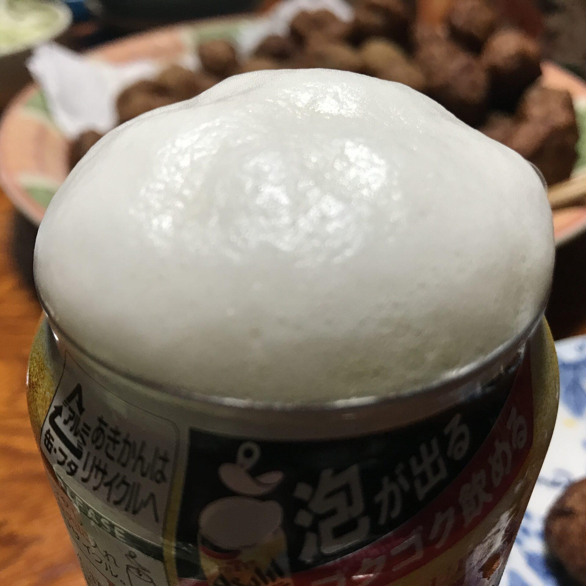 【衝撃】スーパードライ生ジョッキ缶をレビュー!あふれる泡に感動した
